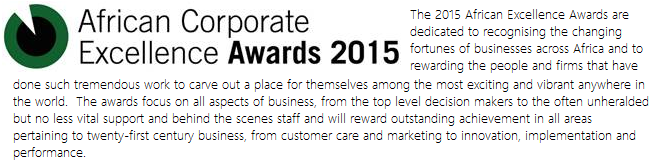 2015 African Corporate Excellence Awards, Bizco Business Consulting